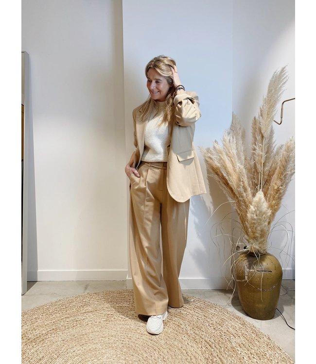 Comfy camel suit
