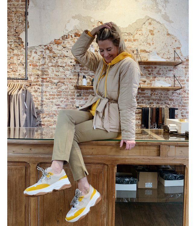 Yellow and Camel Look