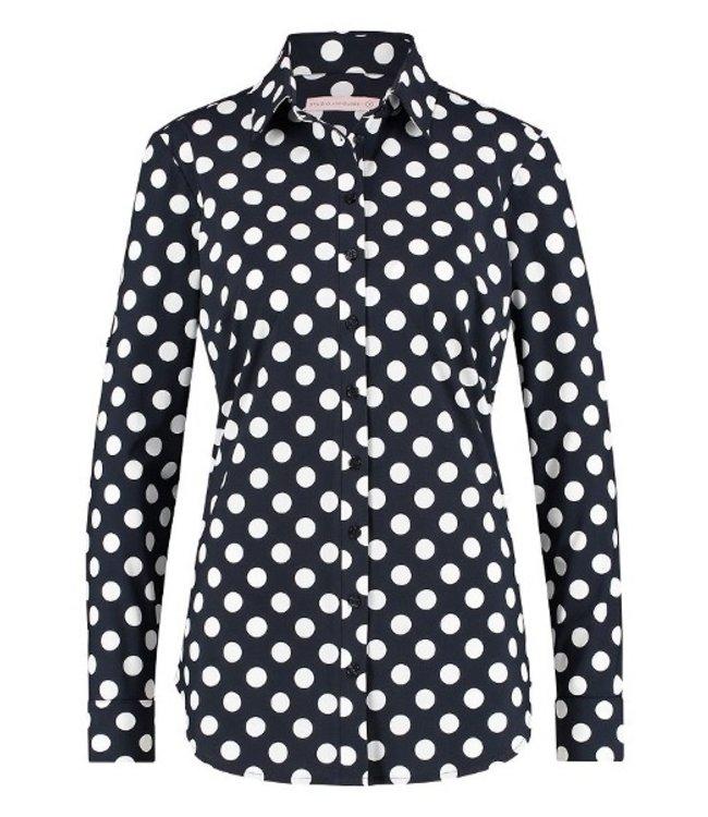 Poppy dot blouse