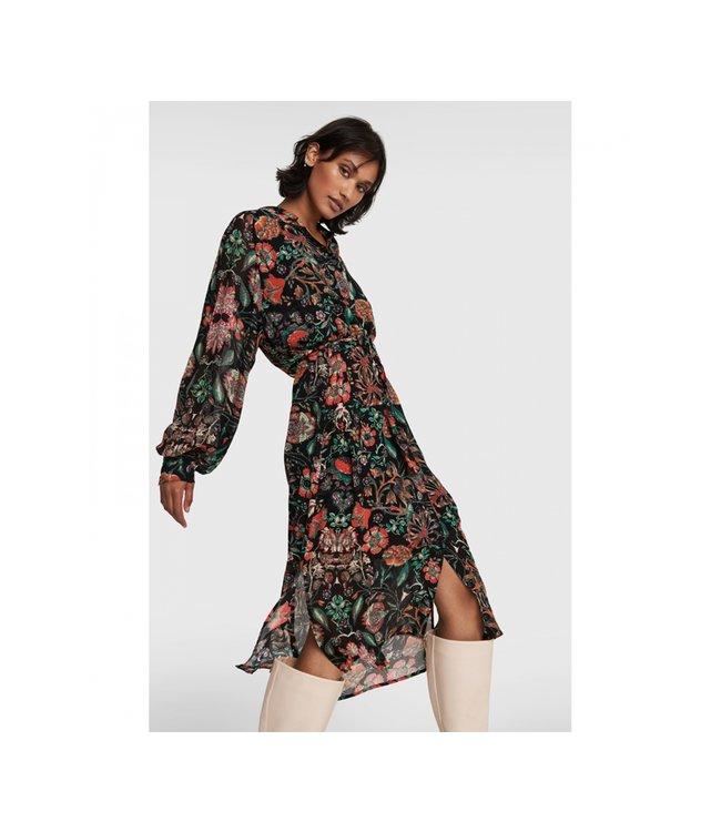 Ladies Woven Multi Colour Chiffon Blouse Dress