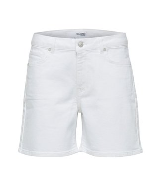 Selected White Denim Shorts U