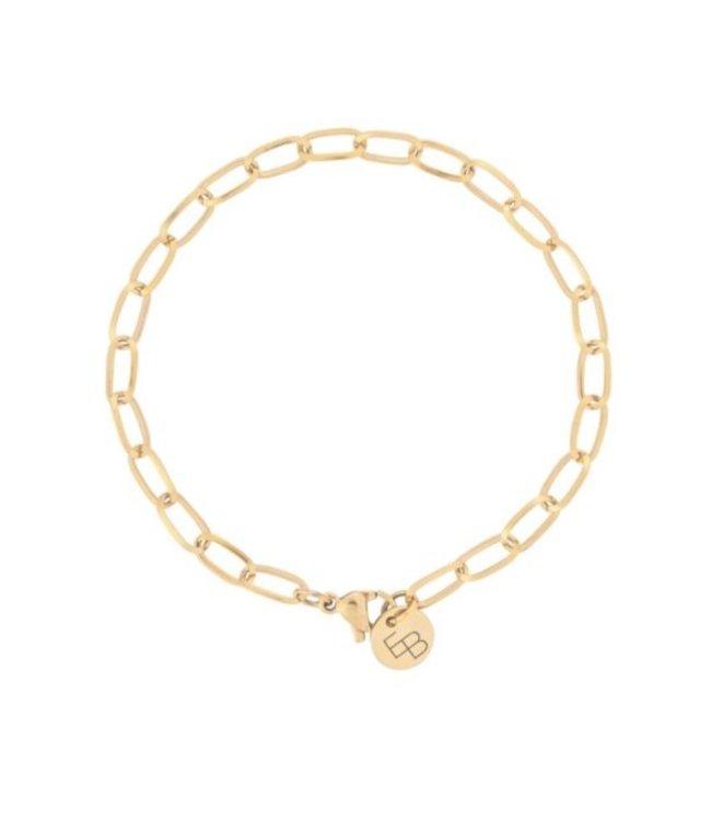 Armband met ovale schakel