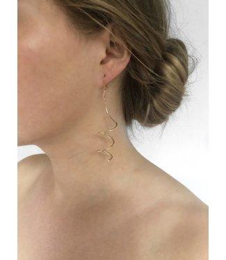 Ellen Beekmans Oorbellen spiraal vorm (6cm)