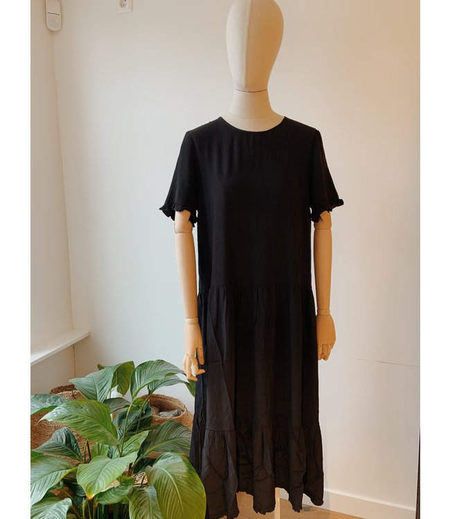 Pia Morocco SS Frill Dress