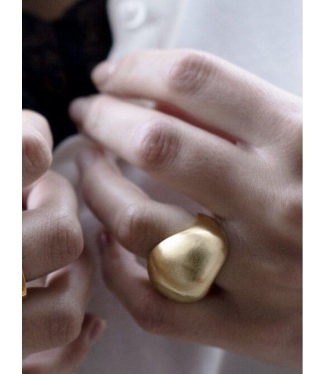 Grote ronde organische ring size 17