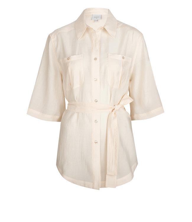 Radical belted blouse Powder