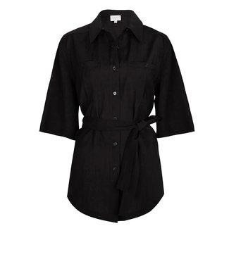 Dante 6 Radical belted blouse raven