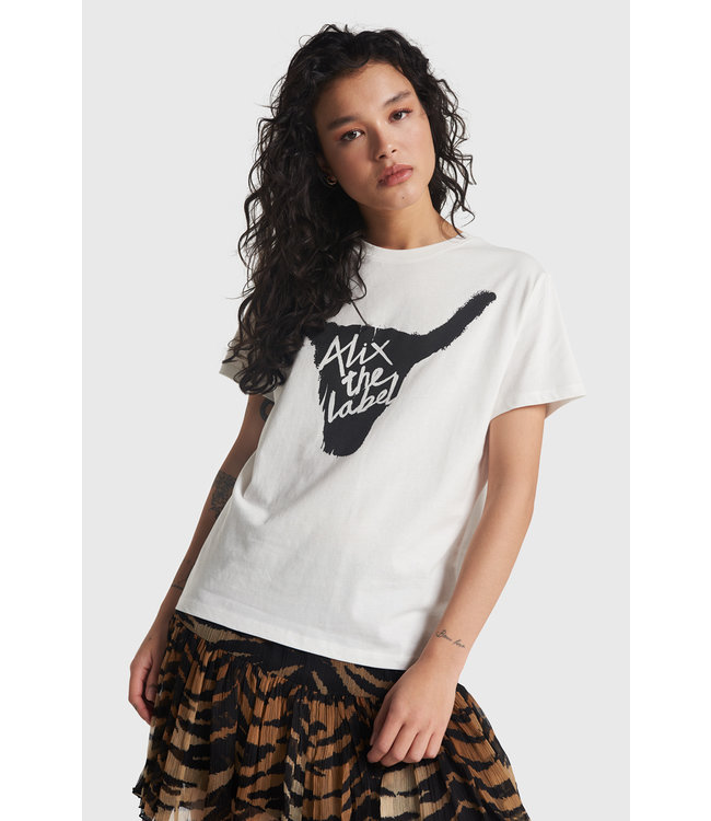 Alix The Label Ladies Knitted Alix Bull T-Shirt
