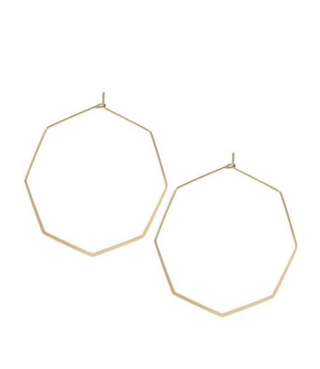 Oorringen hexagon (5cm)