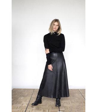 Penn & Ink Leather Look Skirt