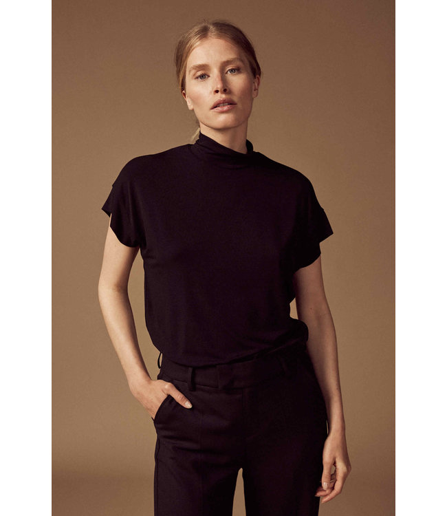 Leane Bamboo Top Jersey Black