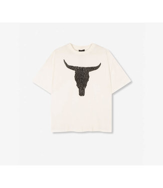 Alix The Label Ladies Knitted Boxy Bull T-Shirt