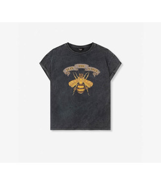 Alix The Label Ladies Knitted Boxy Bee T-shirt