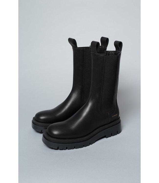 Copenhagen Chunky Chelsea Boot Vitello Black