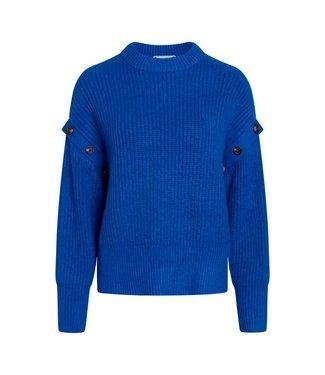 Co'couture Rowie Button Knit Blue