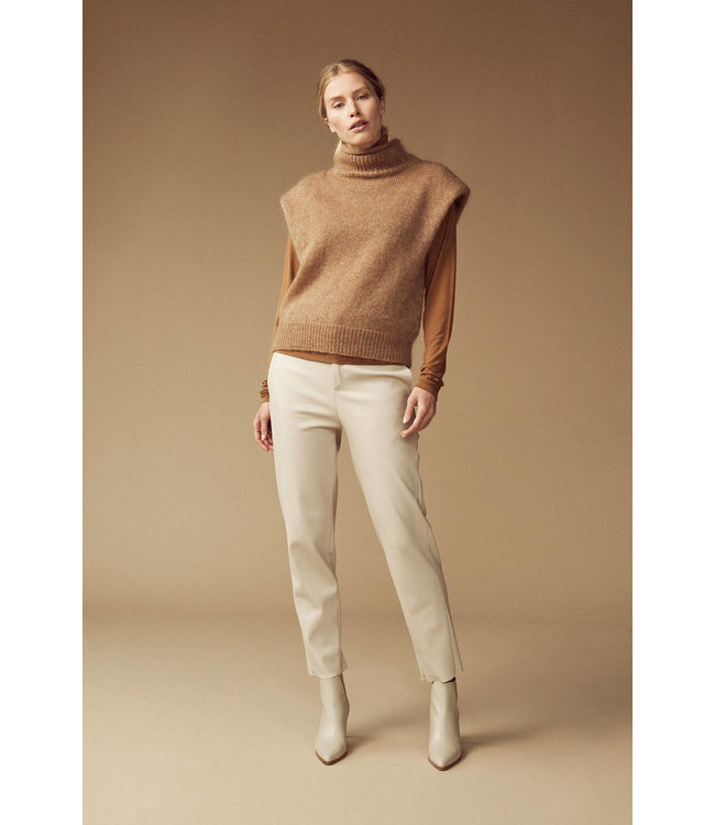 Femmes du Sud Orlane Trouser Vegan Leather Natural