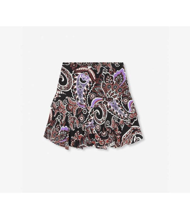 Woven Big Paisley Ruffle Skirt