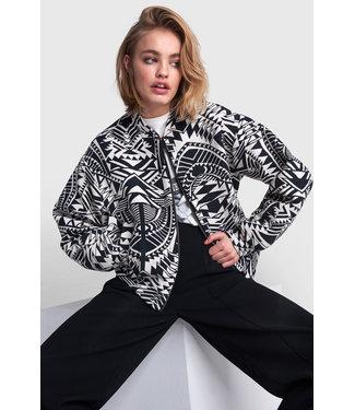 Alix The Label Woven Ethnic Bomber Jacket