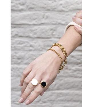 Ellen Beekmans Armband met extra grove schakel
