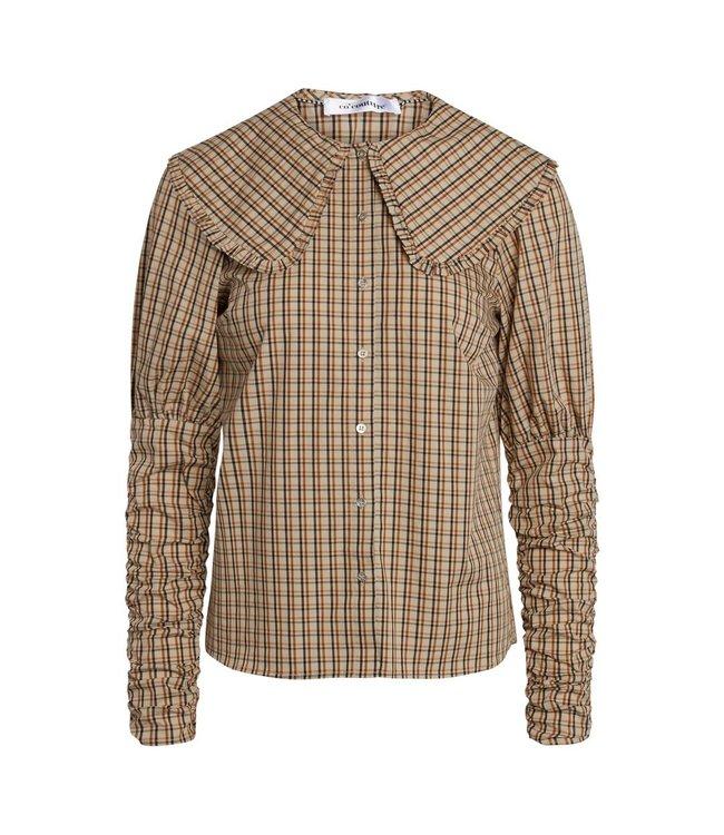 Co'couture Cilia Collar Check Shirt