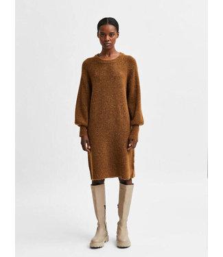 Selected Lulu LS Knit Dress O-Neck