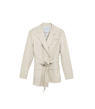 Isabelle Blanche Regular fit faux leather blazer