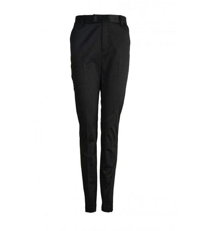 Macy Satin Trouser Black