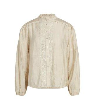 Co'couture Lisissa Lace Shirt Bone