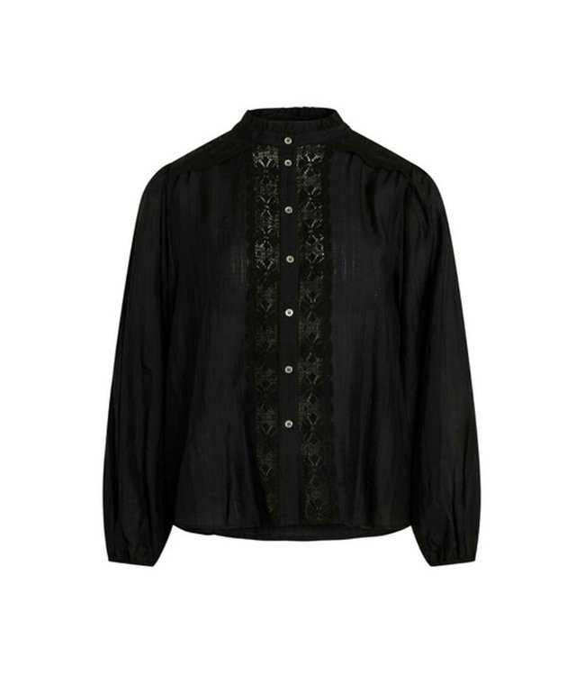 Co'couture Lisissa Lace Shirt Black