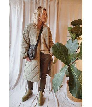 Est'Seven EST'CHINO Stretch Leather Olive Green