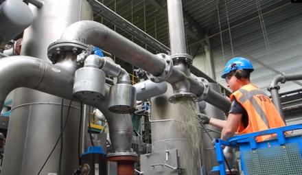 Reinigung von Rohren (Produktion)
