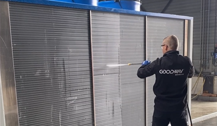 Condenser Cleaning with CC-400HF