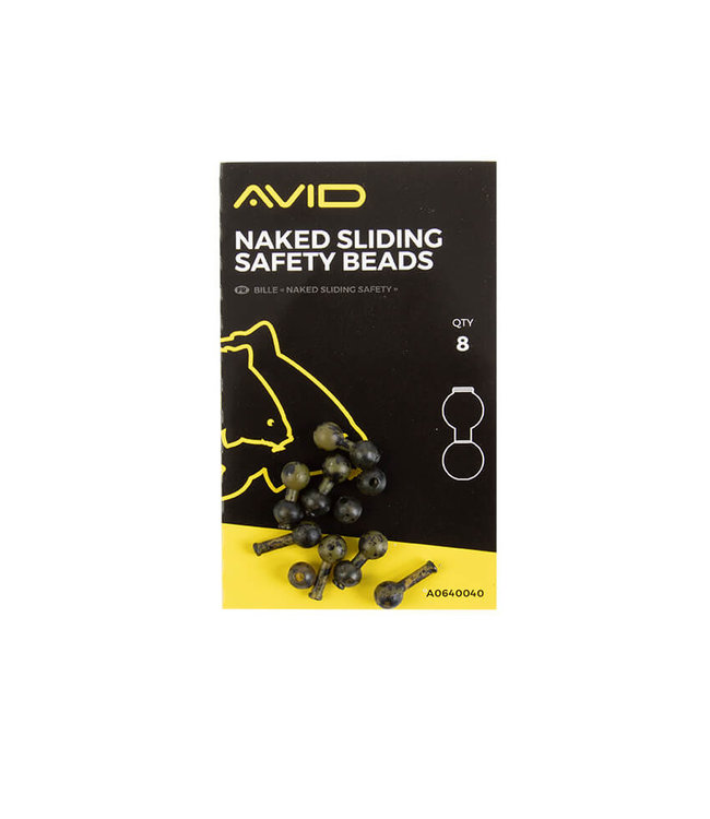 Avid Carp Naked Sliding Safety Beads