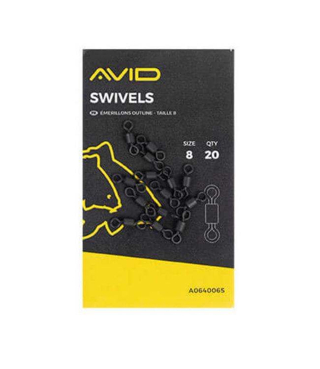 Avid Carp Swivels Size 8