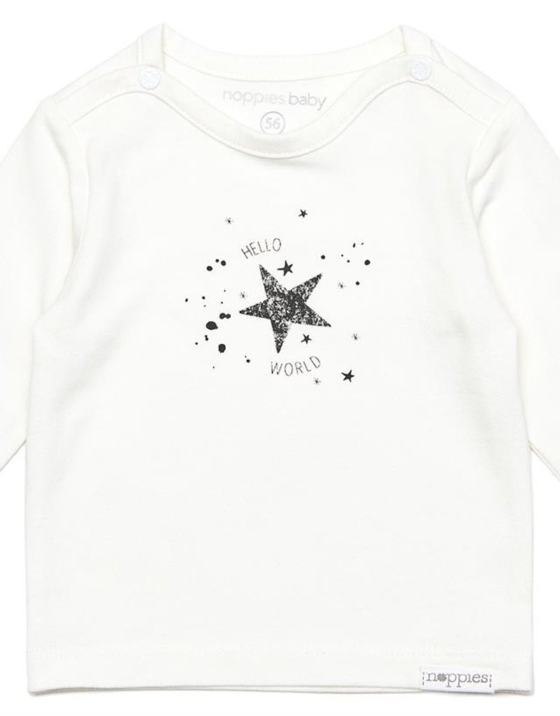 Noppies Noos Shirtje  Lux White