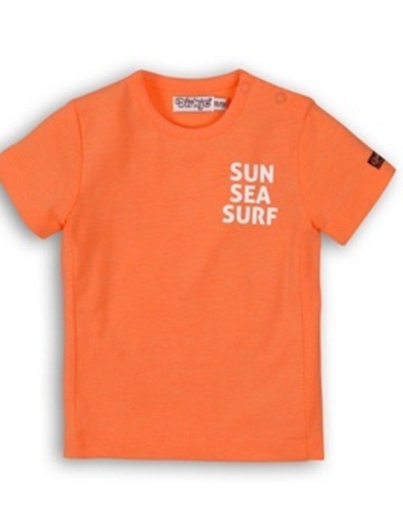 Dirkje Baby t-shirt bright orange
