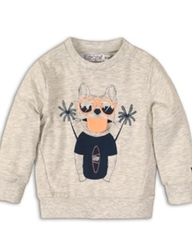 Dirkje Baby Sweater light grey melee