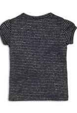 Dirkje Shirtje in navy en silver stripe