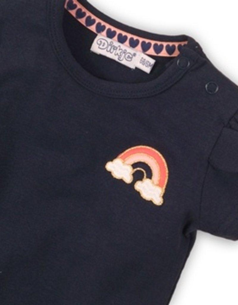Dirkje Baby t-shirt  navy