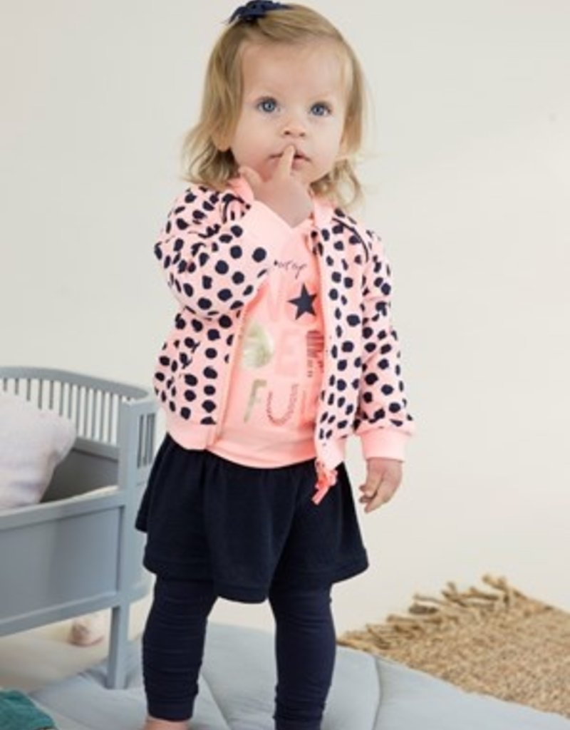 Dirkje Baby cardigan light oral en aop