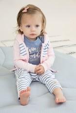 Dirkje Baby cardigan pink light blue stripe