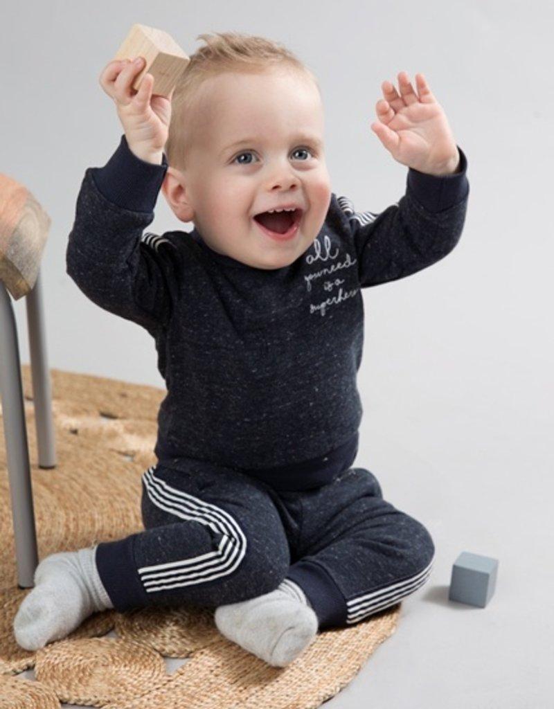 Dirkje Baby jogging trousers navy melange