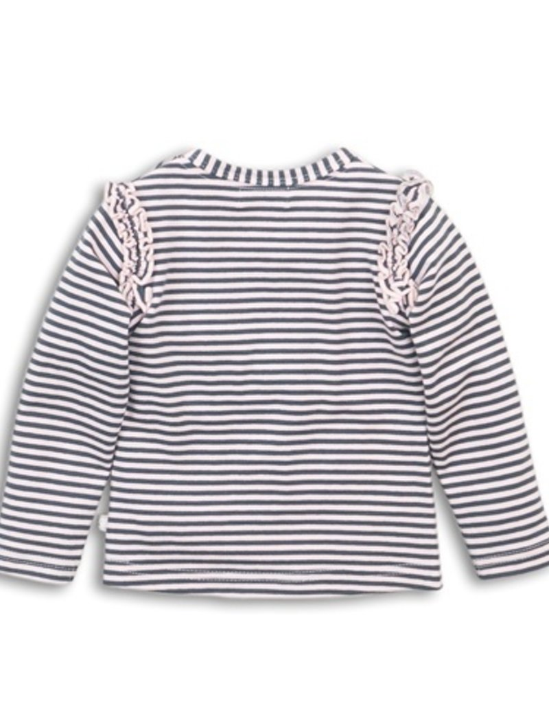Dirkje Shirtje dark grey + pink