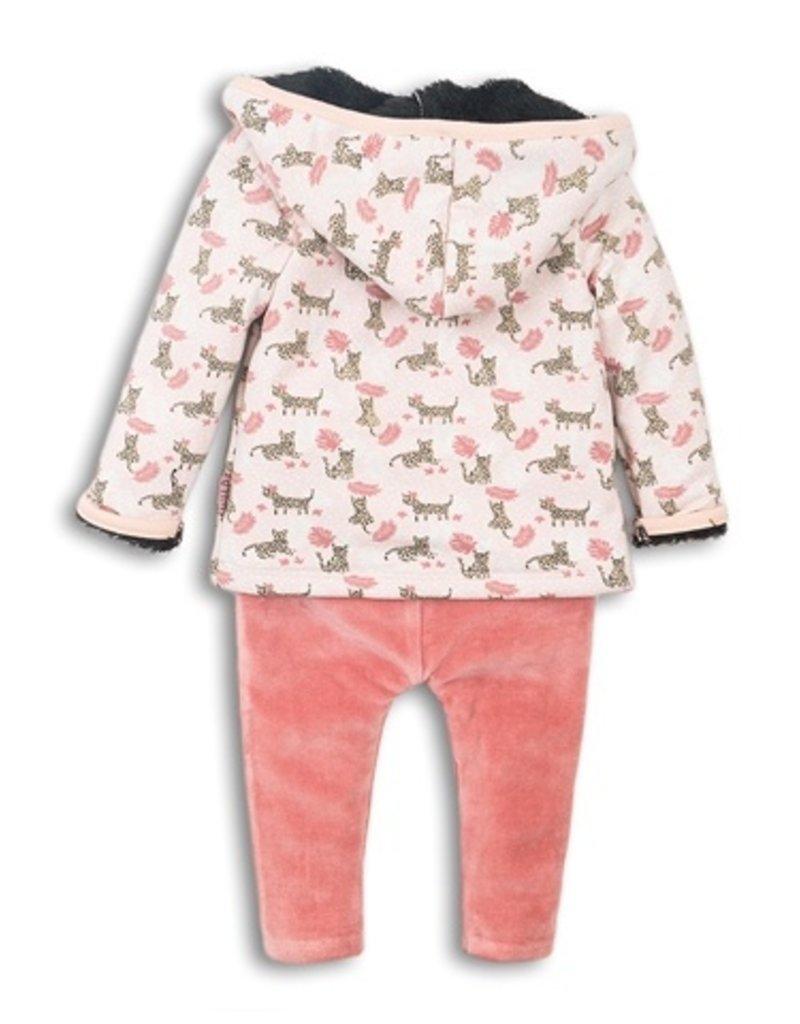 Dirkje babysetje dark faded peach + dark old pink