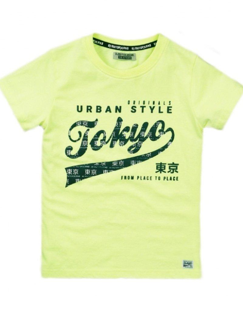 DJ Dutch Jeans Tshirt neon yellow