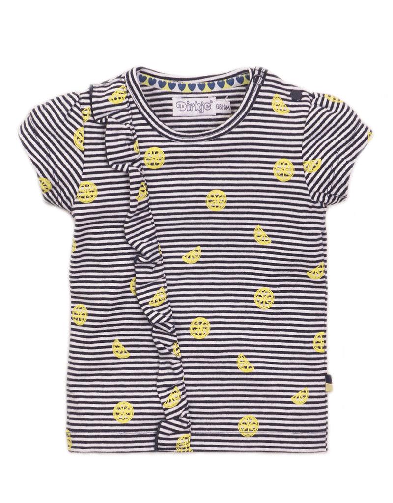 Dirkje Babyshirtje navy-stripe