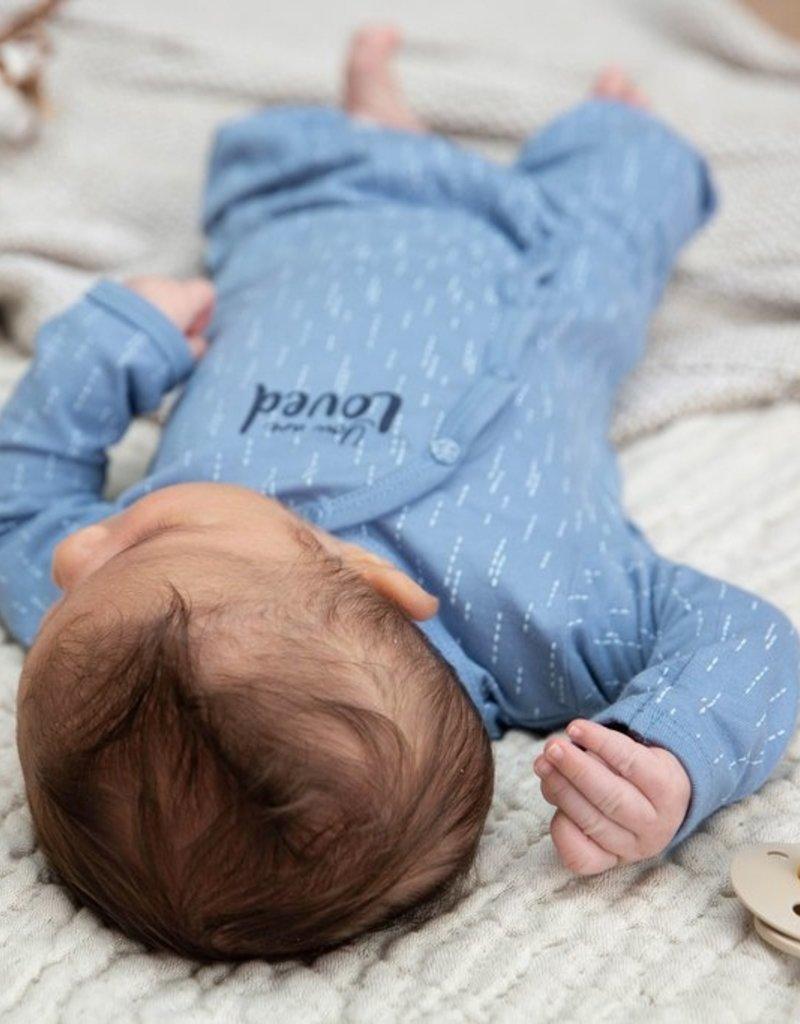 Dirkje Babysuit bio cotton blue