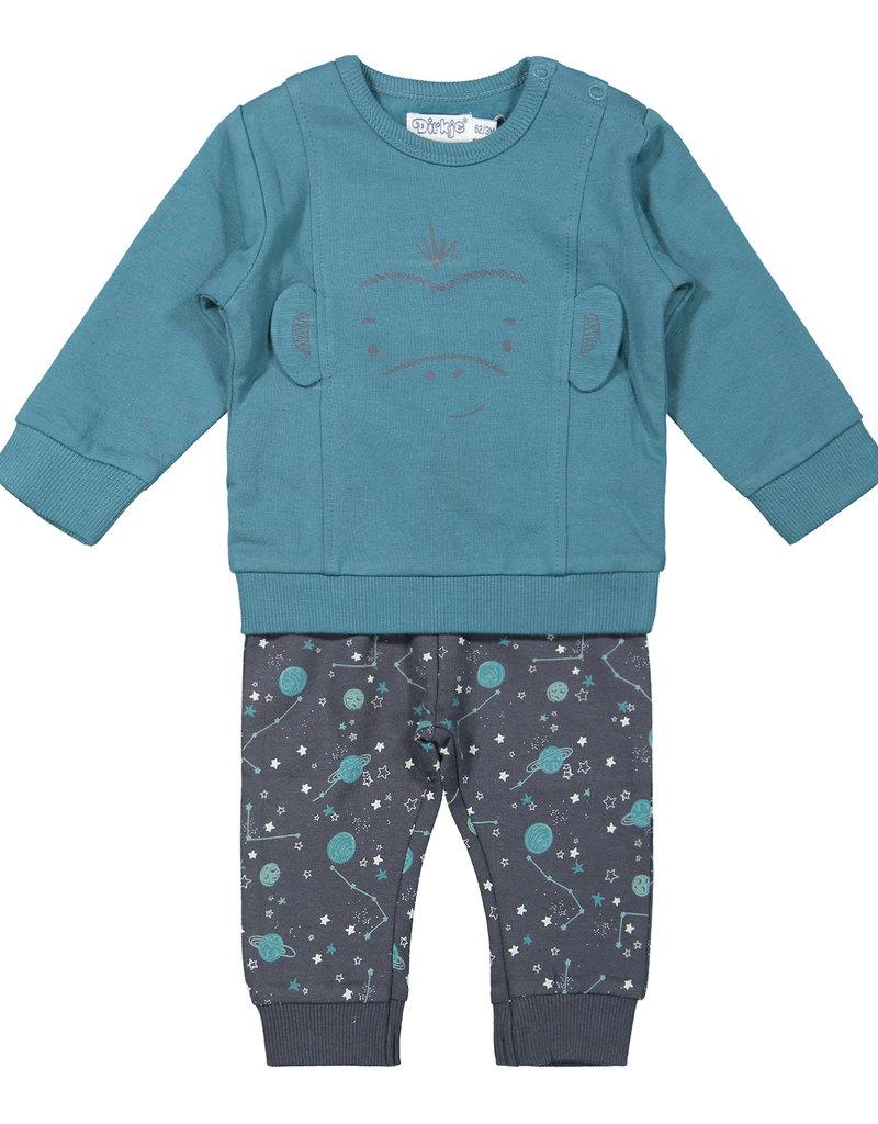 Dirkje Babysetje monkey dusty blue