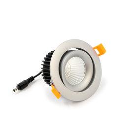 LedLed Tro LED Kantelspot  Rond Zilver 2700k Dimbaar