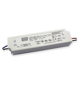LedLed Led Voeding Meanwell DC12 of 24V 60W